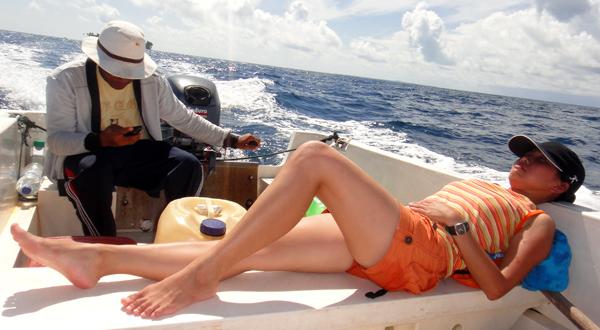 Kety : santai di boat