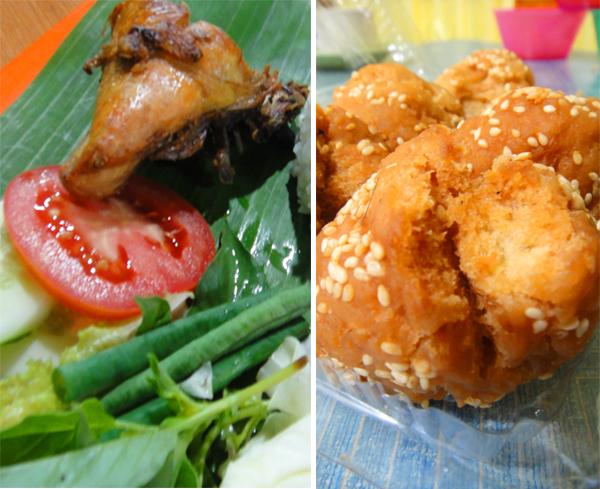 Pecel Ayam VS Roti Ketawa