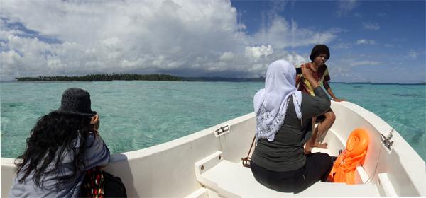 menuju Pulau Pandan