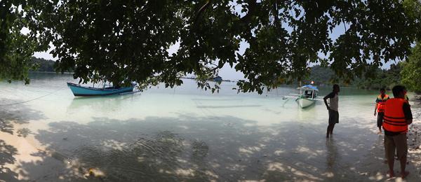 pengenalan alat dan pemanasan sebelum snorkeling bersama @LampungCintaSnorkeling