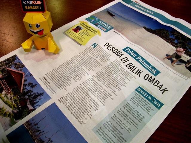 "Tulisan  ""Pulau Palambak, Pesona di Balik Ombak"" masuk koran Media Indonesia"