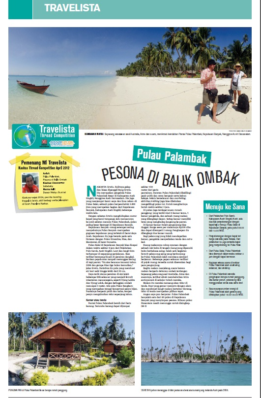Travelvista Media Indonesia : Pulau Palambak, Pesona di Balik Ombak