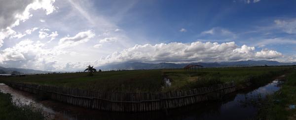 panorama sawah di Kerinci