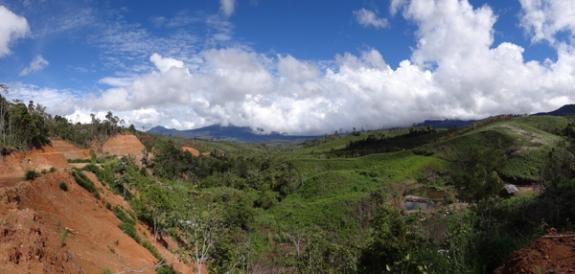 Gunung Raya-Pemandangan menuju Ranah Kayu Embun