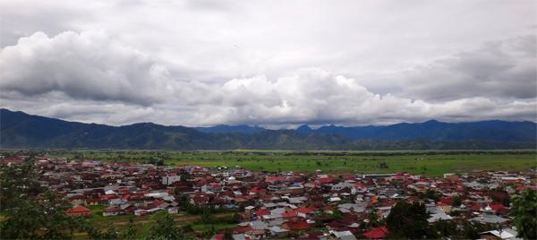 pemandangan kota Sungai Penuh dari kantor Walikota