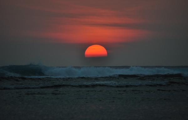 sunset di pantai Tanjung Setia