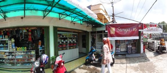 rumah makan - berderet dekat warung