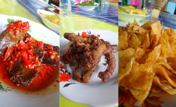 lauk pauk - masakan khas Padang