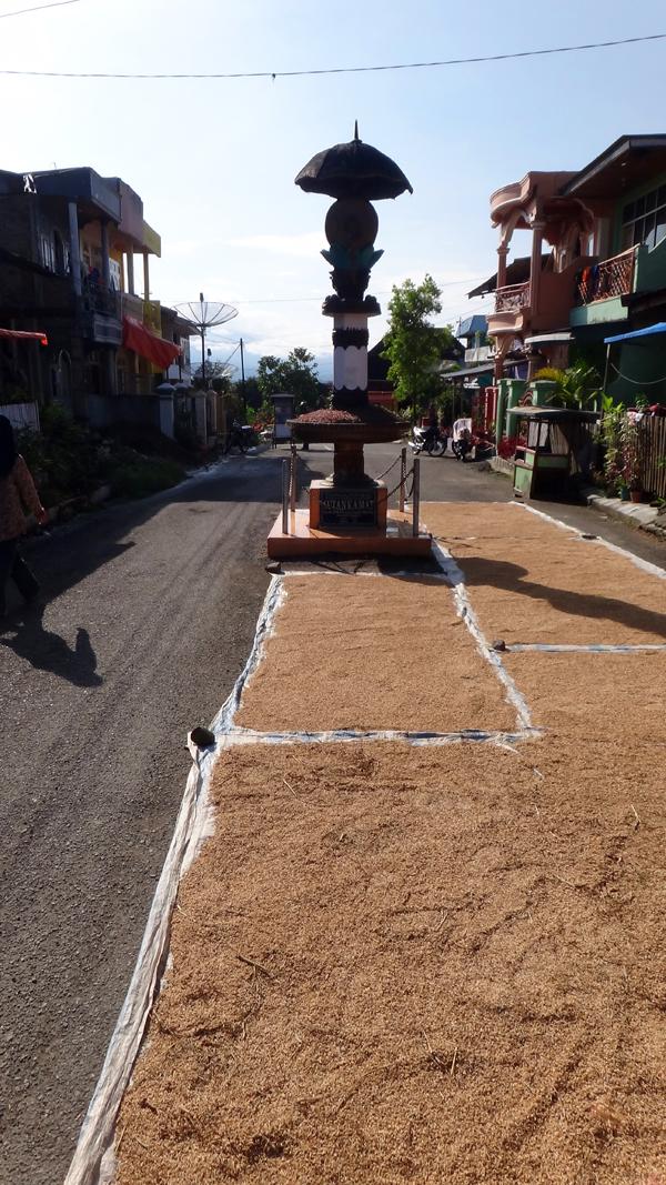 manfaat - karena tidak banyak kendaaraan melintas area ini sering digunakan penduduk untuk menjemur padi atau kopi