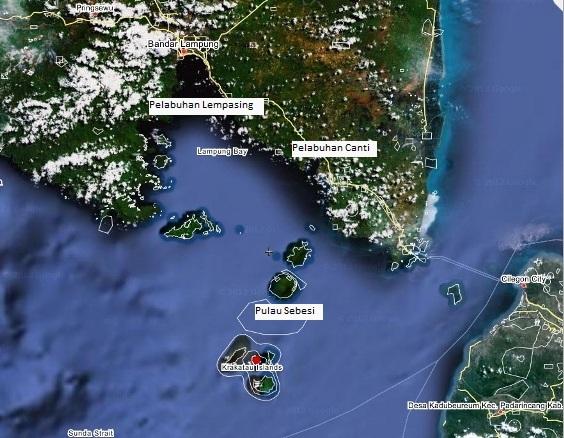 jalur yang tak biasa -  Pelabuhan Lempasing menuju Pulau Sebesi (sumber www.wikimapia.org)
