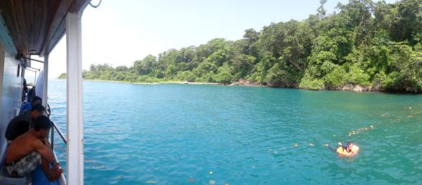 snorkling di Lagun Cabe