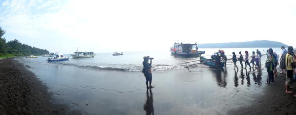 kembali ke laut- menuntaskan keindahan di Gunung Anak Krakatau