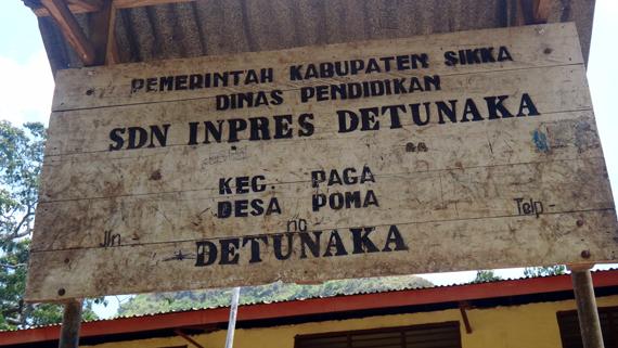 SD Inpres Detunaka, Desa Poma, Kecamatan Paga, Kabupaten Sikka