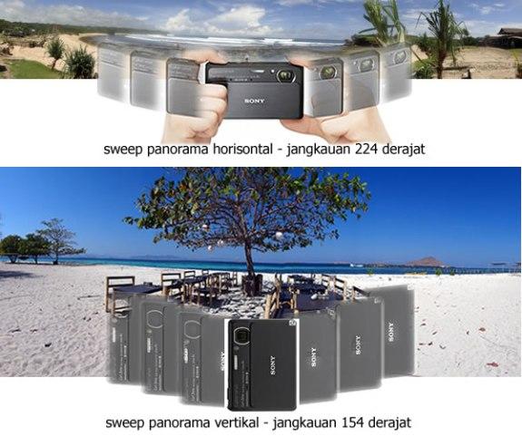 sweep panorama vertikal dan horisontal