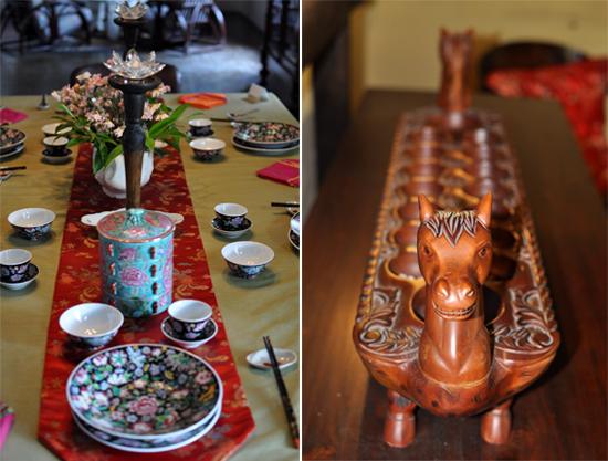pernak pernik - peralatan makan (kiri) - dakon (kanan)