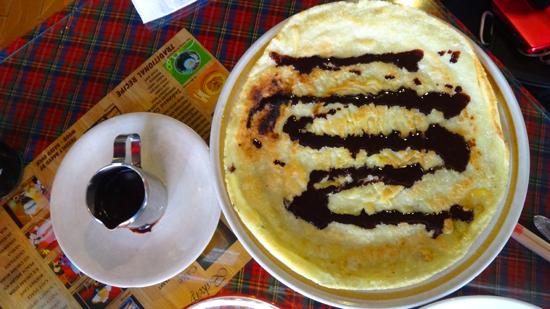 pancake dan coklat masak