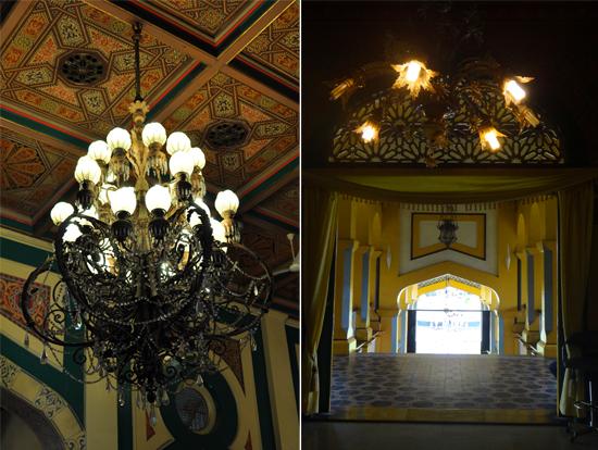 lampu kristal - unsur Eropa mewarnai interior Istana