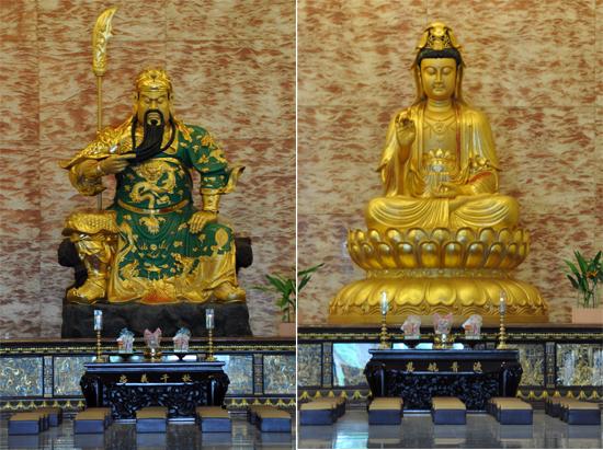 Dewa Kwang Kong (kiri) - Dewi Kwan Im (kanan)