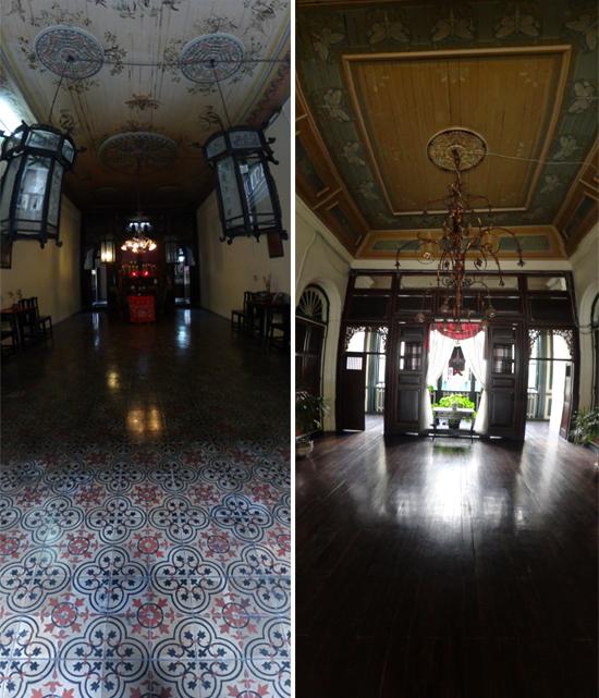 ruang sembahyang (kiri) - lantai dua (kanan)