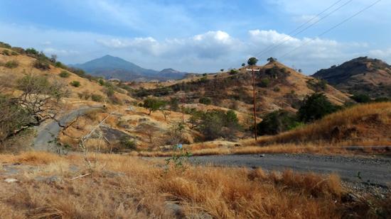 jalanan di antara bukit sabana