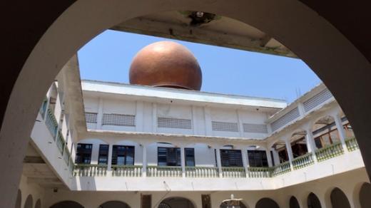 kubah berwarna emas - ciri khas masjid An Nur
