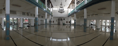 lantai satu masjid An Nur tempat aktivitas beribdah