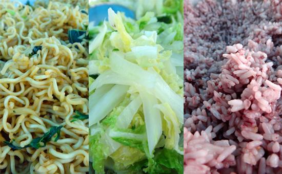 menu makan siang di Dintor (tetep ada sawi putih)