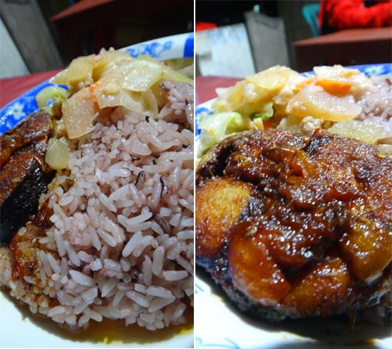 """menu """"Laryss"""" - nasi merah dan seafood"""