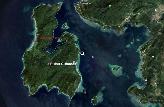 peta pulau Cubadak