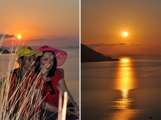 sunset di Pulau Kanawa