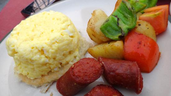 telur orak arik dan sosis