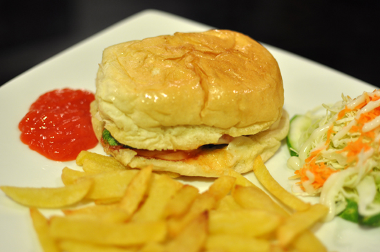 beef burger + french fries
