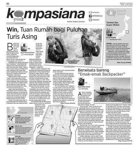 Freez Kompasiana, Hal 36 - Kompas 15 Mei 2013