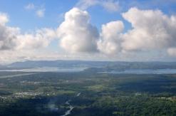 penampakan Danau Sentani dari gunung Ifar