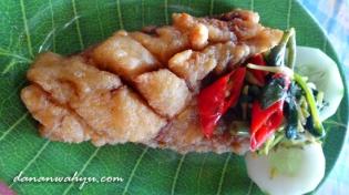 Ikan gabus Danau Sentani fillet goreng tepung