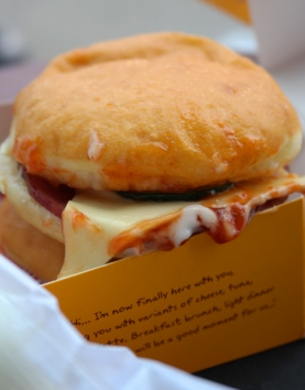 mini burger with melting chesse