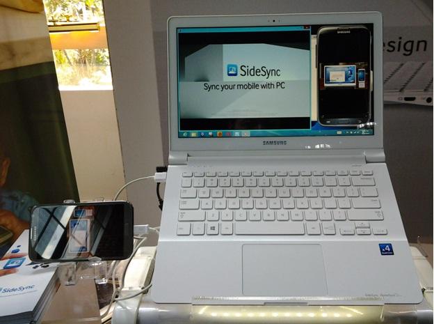 fitur SideSync  memudahkan transfer file antar perangkat