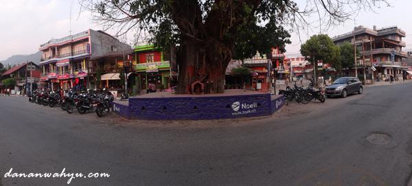 altar pohon di persimpangan jalan