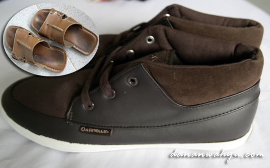 sepatu Airwalk akhirnya menggantikan sendal kuliy buluk gue