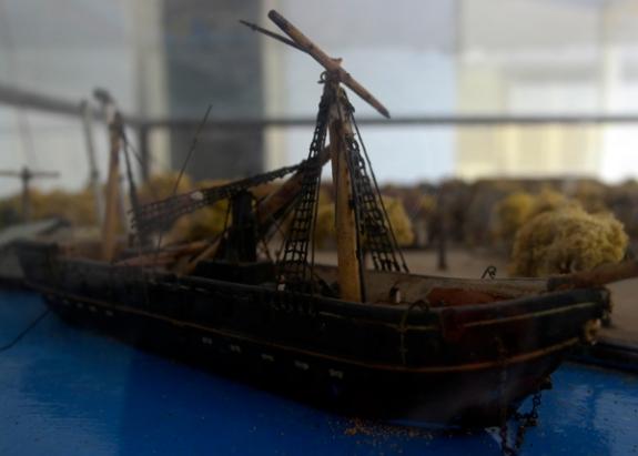 perahu pinisi - ilustrasi pelabuhan Onrust abad ke-17