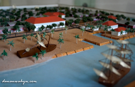 maket pelabuhan pulau Onrust