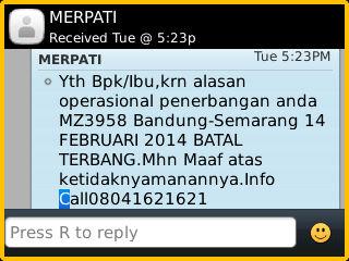 sms tanggal 26 November 2013