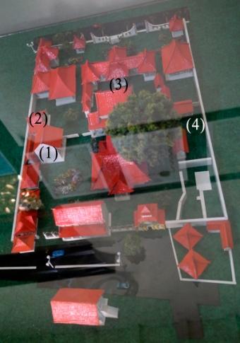 miniatur komplek keraton Sumenep, Madura