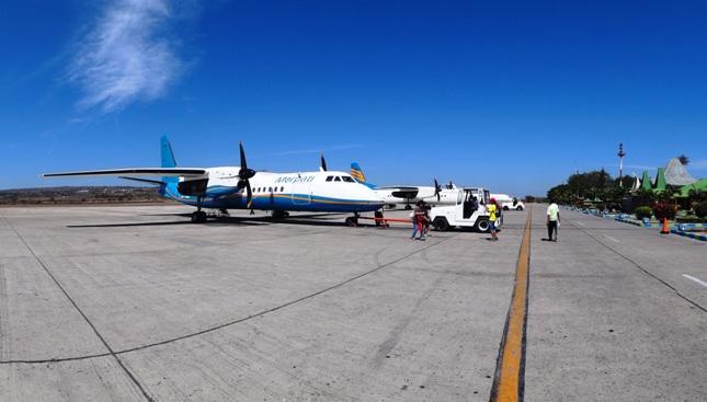 Merpati di bandara El Tari Kupang (dok.pribadi)
