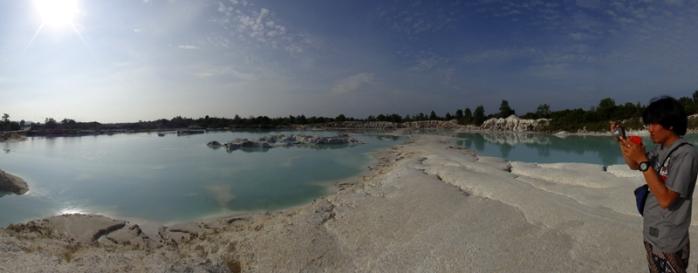 bekas tambang Kaolin menjadi objek wisata - Pulau Belitung