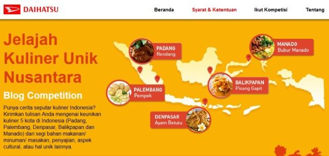 Daihatsu - Jelajah Kuliner Unik Nusantara Blog Competition
