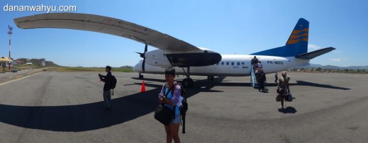 Merpati Air di Bandara Komodo , Labuan Bajo