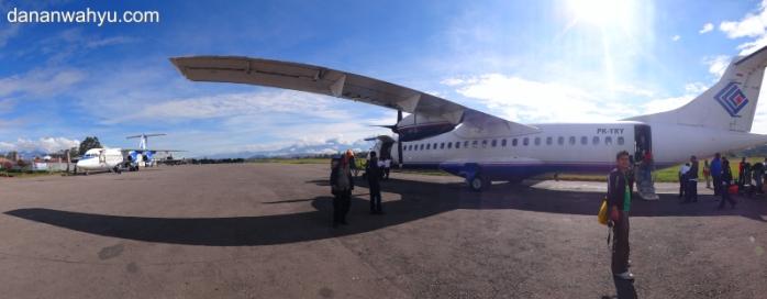 Trigana Air di Bandara Wamena