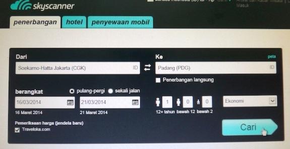 memesan kendaraan melalui web skyscanner memudahkan perjalanan anda
