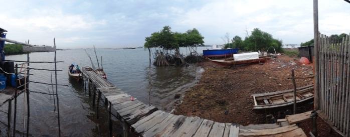 rumah penduduk di Tanjung Kubu